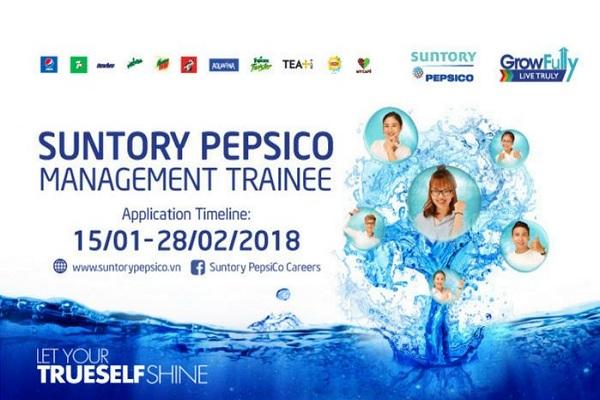 Quản Trị Viên Tập Sự Của Suntory PepsiCo 2018