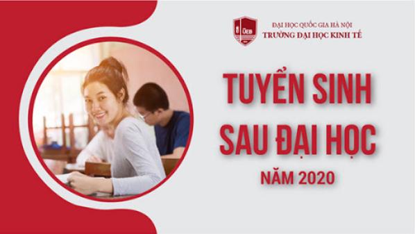 Tuyển sinh đại học năm 2020 tại Trường Đại học Kinh tế - ĐHQGHN